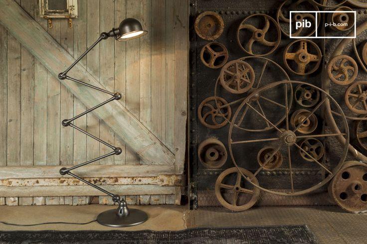 Illuminate i vostri interni con questa piantana Jieldé icona dello stile industriale francese