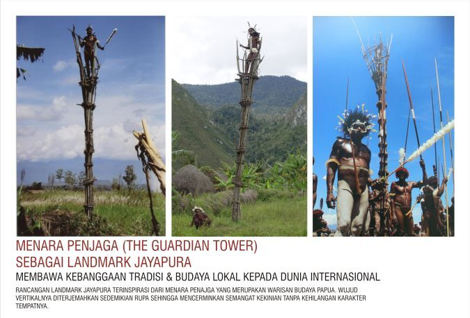 Dani's Guardian Tower #Jayapura #Indonesia will be adapted as the Jayapura Landmark