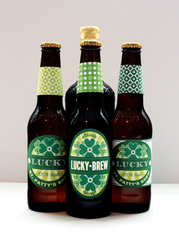 Free Lucky Brew Printable St. Patrick's Day Beer Labels http://benignobjects.blogspot.com/2011/03/free-lucky-brew-printable-st-patricks.html