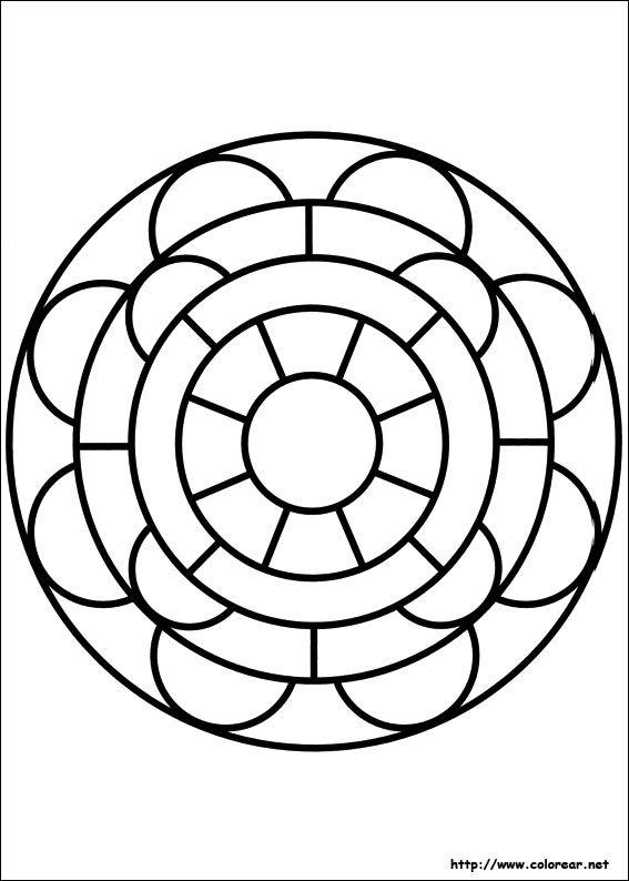 Mandalas ღღღ, Mandalas Para, Mandalas Circulares, Para Colorear, Colorear Net, Inteligente, Pines Culturales, Circulos Concentricos, Descargar Buscar