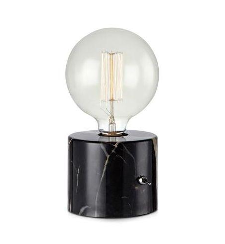 Round Bordlampe sort