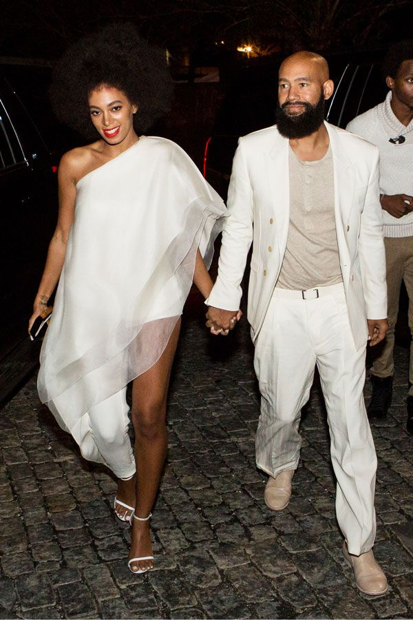 All The Outfits From Solange's Epic Wedding Weekend #refinery29  http://www.refinery29.com/2014/11/78102/solange-knowles-wedding-outfits#slide3  Part-jumpsuit, part-dress, all the ruffles Solange could handle.