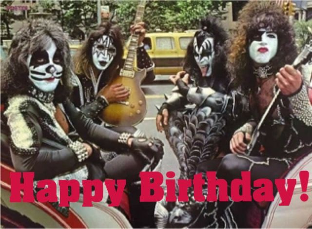 Pin By Lynne Panarese On Happy Birthday Quotes Kiss Rock Bands Kiss Band Happy Birthday Kiss