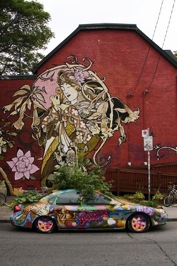 Toronto, Canada by street artist Alphonse Mucha http://stores.ebay.com/urban-art-designs