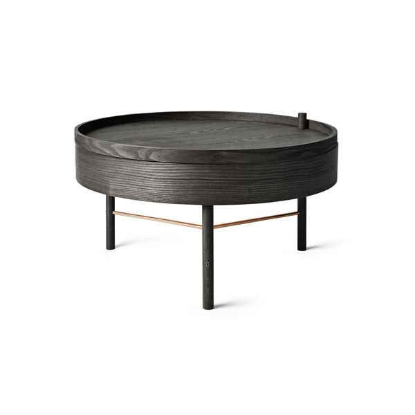 Turning Table Black Ash by Theresa Arns for Menu