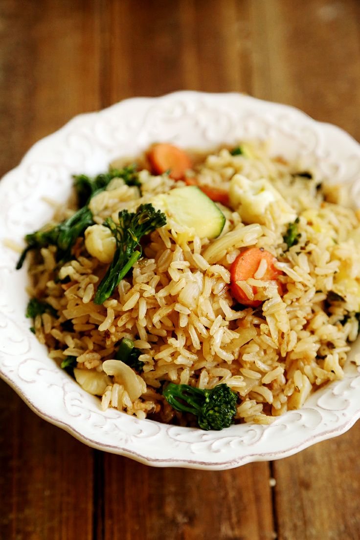 Veggie stir fried rice with vegan fish sauce recipe for Rice recipes to go with fish