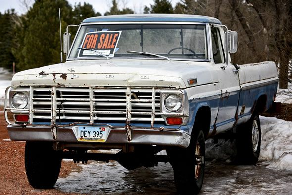 """I know they aren't """"pretty"""", but there is something I just LOVE about an old pickup truck...  :-)"""