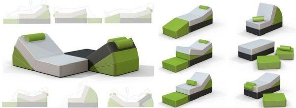 Platzsparende Möbel Kreative Wedge Modulare Elemente | Möbel Ideen |  Pinterest | Platzsparende Möbel, Antwort Und Möbel