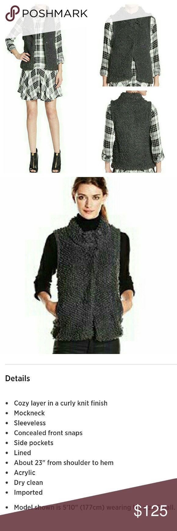 Sam Edleman Knit Gray Vest Sam Edleman Knit Gray Vest. NWT.   No Trade or PP Bundle discounts Offers Considered Sam Edelman Jackets & Coats Vests