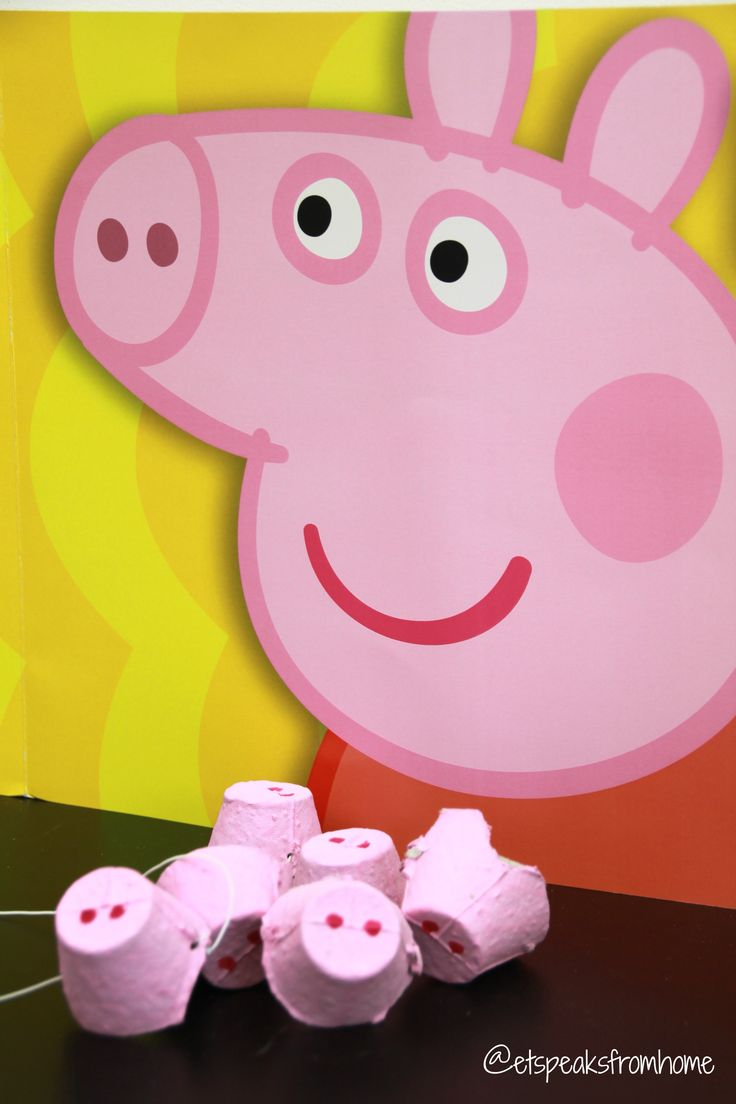 Peppa Pig noses - a fun craft idea for kids.
