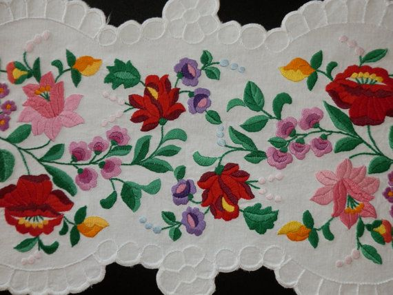 Special Hungarian Kalocsa handmade embroidery by macaristanbul, $100.00