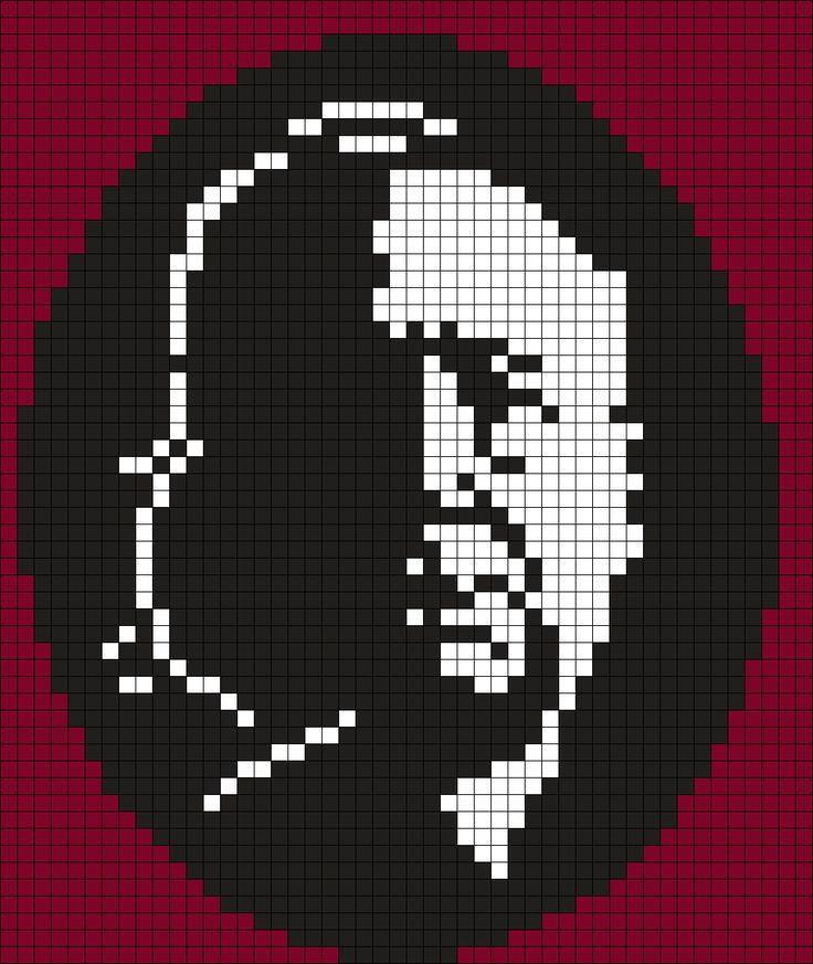 Alfred Hitchcock Silhouettes (Square) Perler Bead Pattern / Bead Sprite
