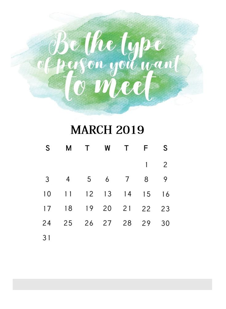 Motivational Quotes March 2019 Calendar Calendar quotes