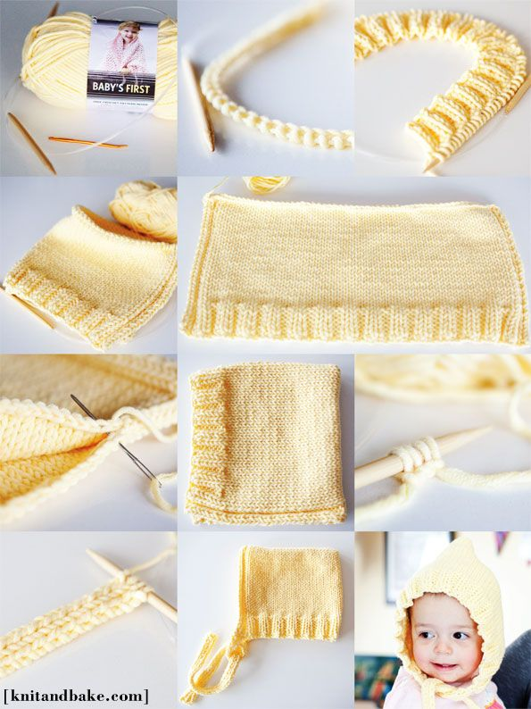 baby hat knitting pattern easy - Google Search