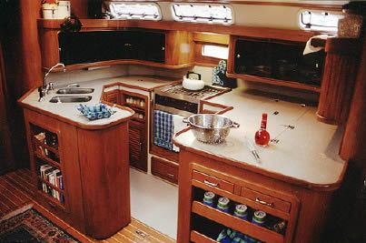 17 best images about boats down below on pinterest house boat interiors beach pool and Ship galley kitchen design