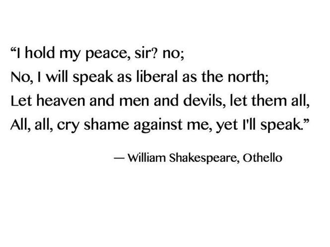 Othello Quotes Prepossessing 8 Best Shakespeare Images On Pinterest  William Shakespeare