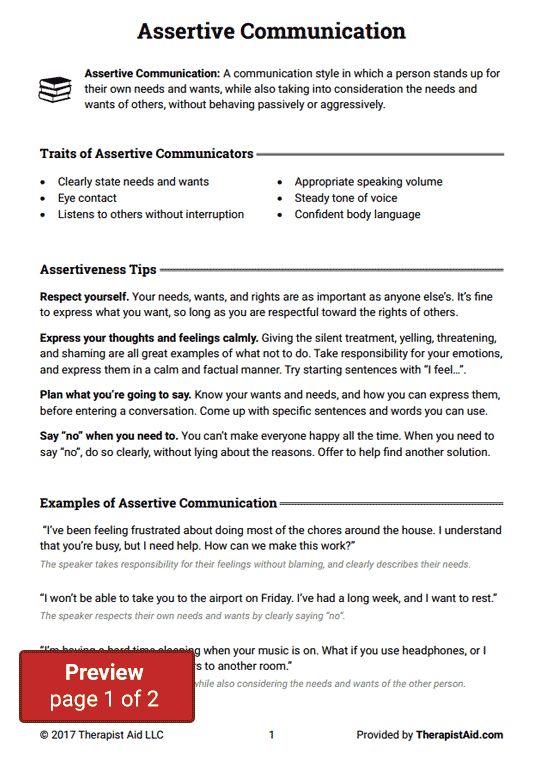 Best 25 Assertive Communication Ideas On Pinterest