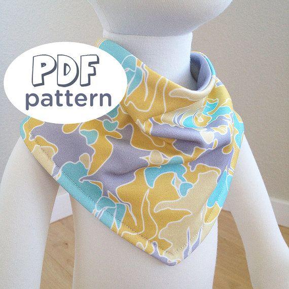 Pdf Pattern Baby Bib Cowl Neck Bandana Bib Baby By