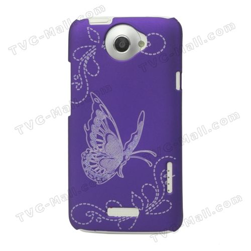 Butterfly Laser Carving Hard Cover for HTC One X S720e Edge Endeavor / HTC One XL - Purple: Mobile Phone, Phone Casess