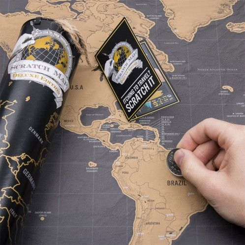 Rubbel-Weltkarte Scratch Map Deluxe - Für Globetrotter und Reisefreudige - Geschenkideen für Männer
