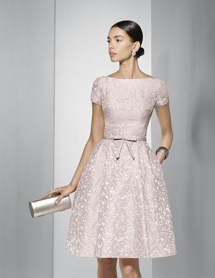 Brocade dress, available in pink. - 1g198