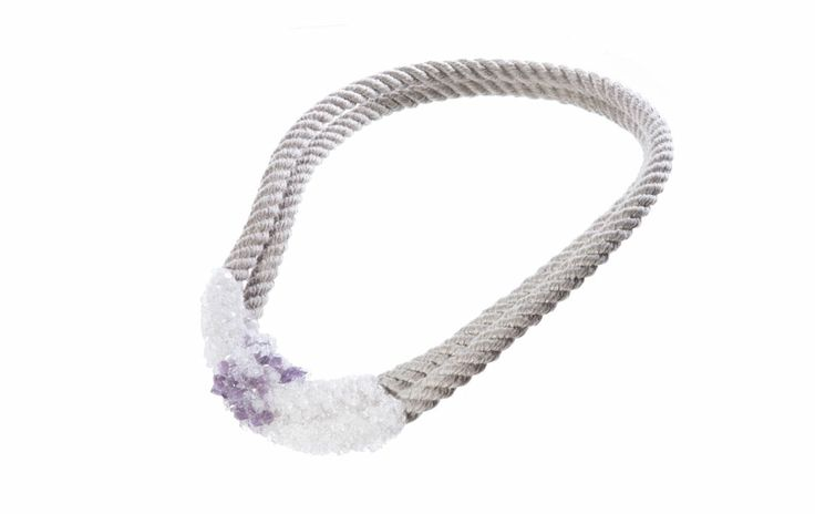 The Virus collection by Zorya. Crystals grown on the necklace. How cool?!