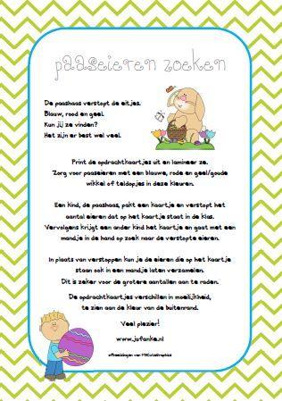 paaseieren zoeken, tellen en de getalsymbolen - jufanke.nl