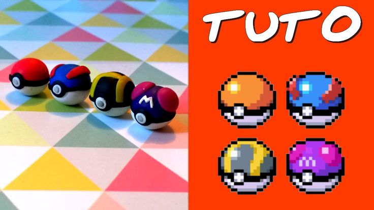 TUTO FIMO | Pokéballs (de Pokémon) ◊ FACILE ◊