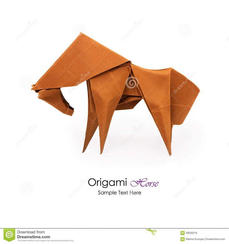 cheval-d-origami-58526216.jpg (1300×1390)