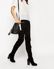 New Look Over The Knee Boots with Block Heel