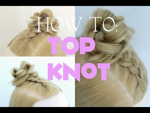 Half Up Top Knot | Messy Bun Tutorial - La creme