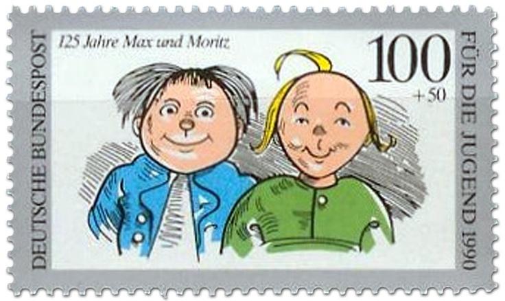 Max Moritz, Briefmarke 1990