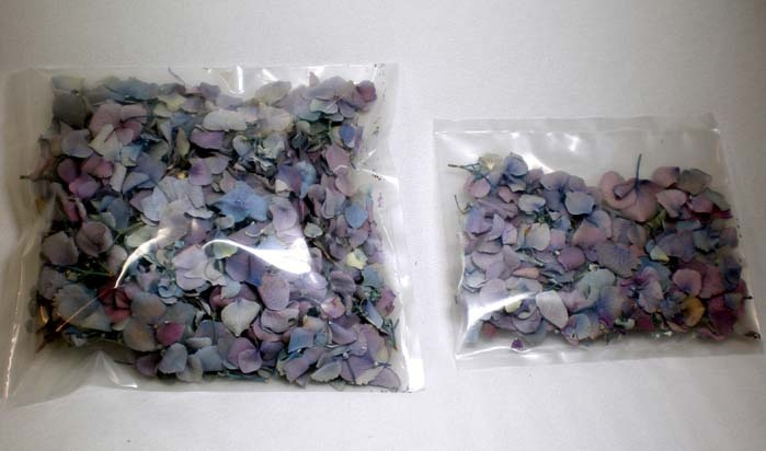 freeze dried flower petals -one cup and 5 cups