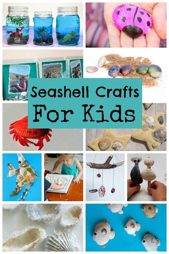 Seashell Sea Crafts for Kids - Crafts on Sea