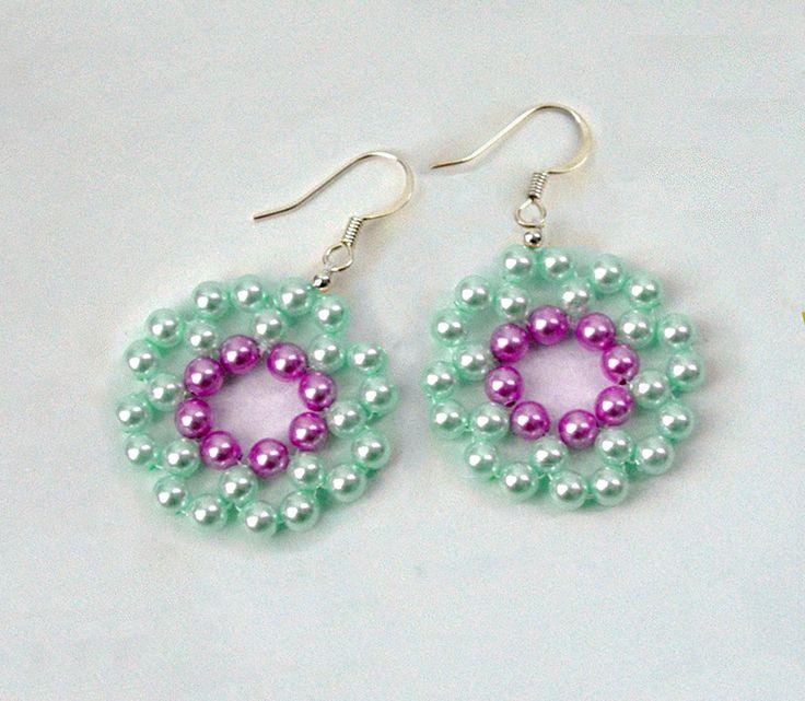 Free pattern for earrings Mermaid - 1