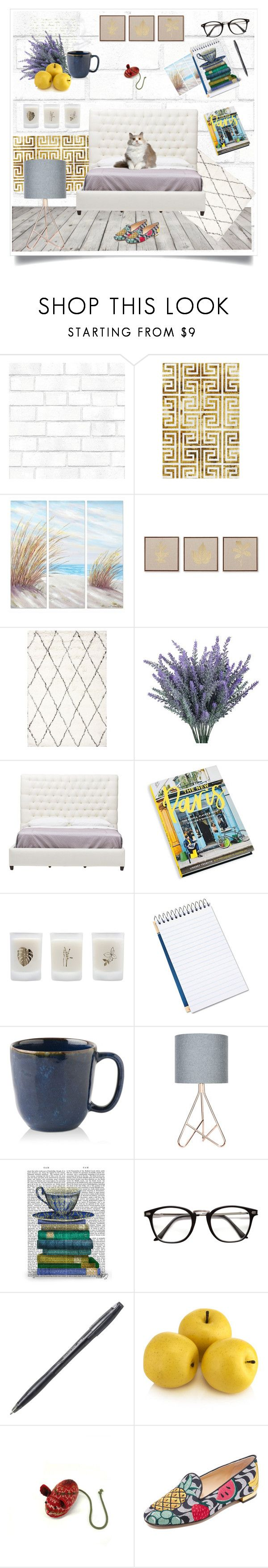 """""""Where is my mouse?"""" by k-postal ❤ liked on Polyvore featuring interior, interiors, interior design, home, home decor, interior decorating, Tempaper, WALL, Yosemite Home Décor and JLA Home"""