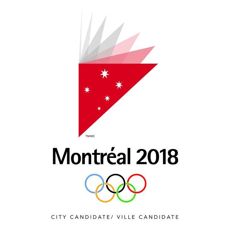 Branding Program, Branding Design. Logo Montréal 2018 Jeux olympiques d'hiver 2018. COI Canada.