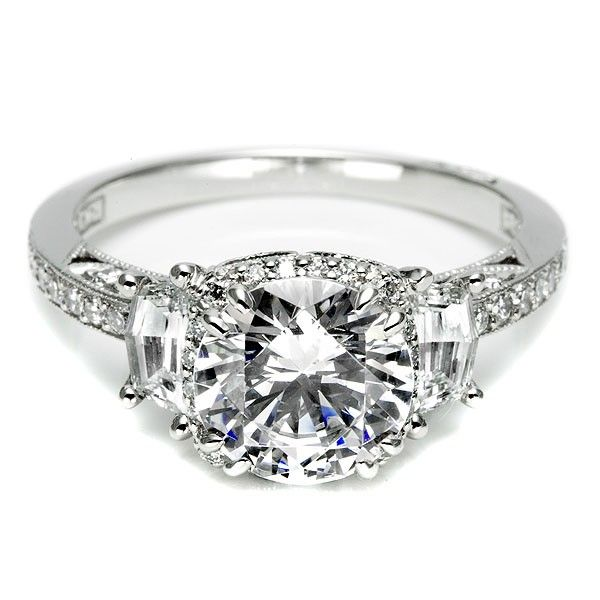 Tacori engagement ring from the Dantela collection, a beautiful ring that sparkles with love, http://www.genesisdiamonds.net/tacori-2628rdp-engagement-ring.html