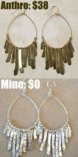 Fairly simple instructions on making these Anthropologie knock-offs earrings! She has a