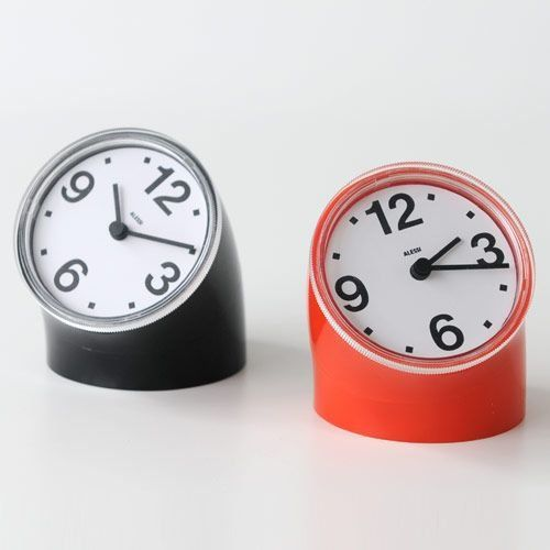 Amazon.com - Cronotime Desk Clock by Pio Manzù Color: Black - Mantel Clocks