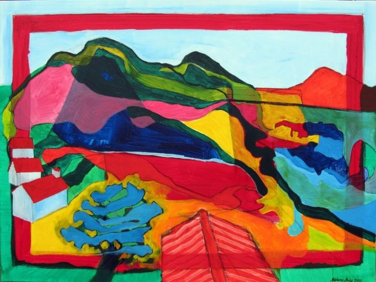 Landschap met Blauwe Boom (Alphons Arts)
