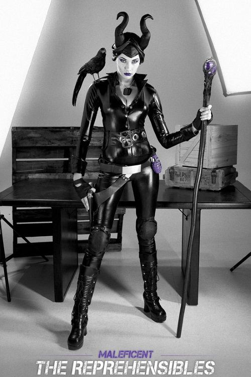 Maleficent Expendables Movie Poster- Disney mashup combat costume