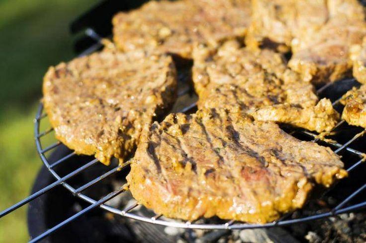 Wołowina z grilla w ziołowej marynacie.