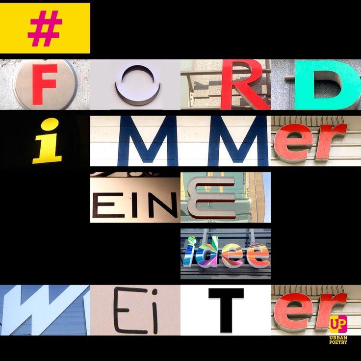 #ford #slogan #immer #eine #idee #weiter #berlin #wien #zürich #köln #frankfurt #hamburg #münchen #leipzig #auto #werbung #urbanpoetry