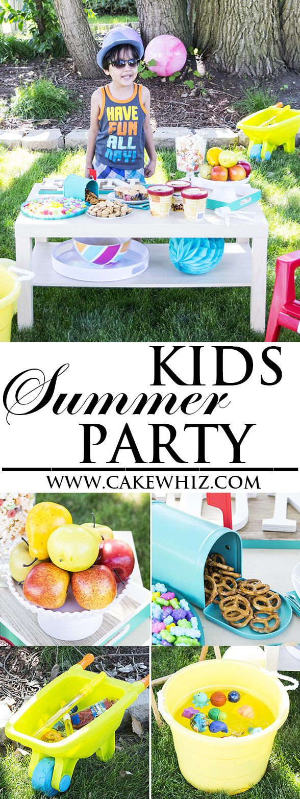 Lots of food, game and decorating ideas for a fun and easy KIDS SUMMER PARTY in …