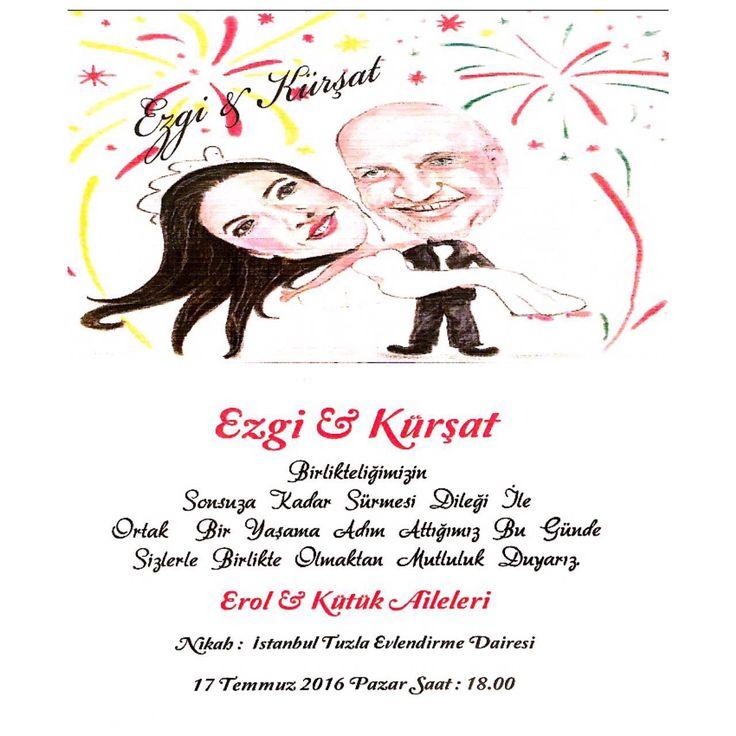 Kişiye özel karakter tasarımlar düğün davetiyesi #wedding invitation art desing sanat tasarım çizim drawing paint caricature karikatür karikaturize etme idea
