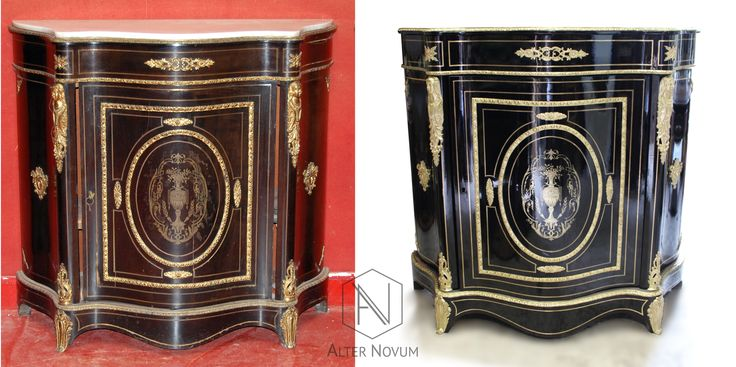 Szafka w stylu Napoleona III, po renowacji w pracowni Alter Novum /// French Side Cabinet Napoléon III, renovated by alternovum.com