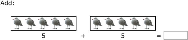 Improve your math skills by practising free problems in 'Add with pictures - sums up to 10' and thousands of other practice lessons.