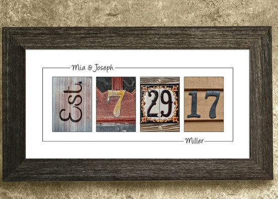 A rustic frame to decorate their walls. | 19 Unique Wedding Gifts You Won't Find On The Registry