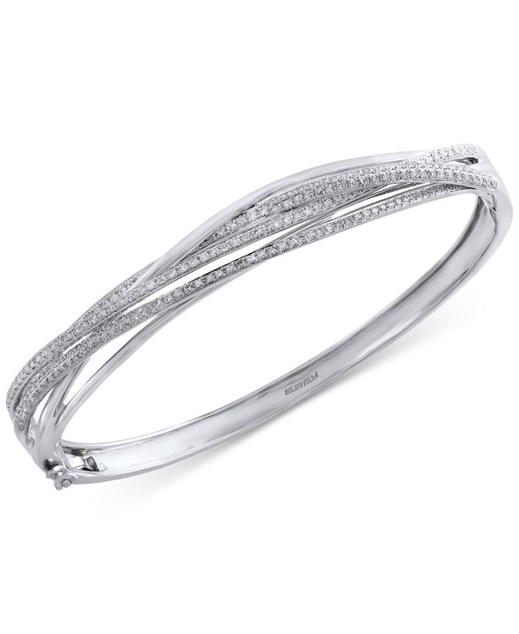 Pave Classica by Effy Diamond Bangle (1 ct. t.w.) in 14k White Gold